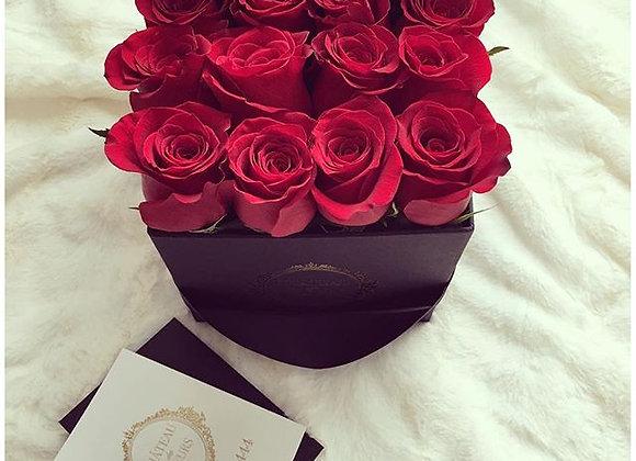 Signature Petit Square Noir - Infinity Roses