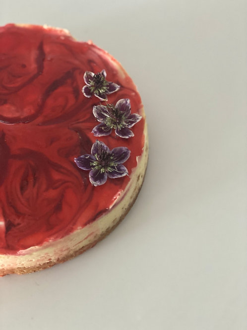 """Faux """"Cherry"""" Cheesecake Slice w Coconut Crust (2 pieces)"""