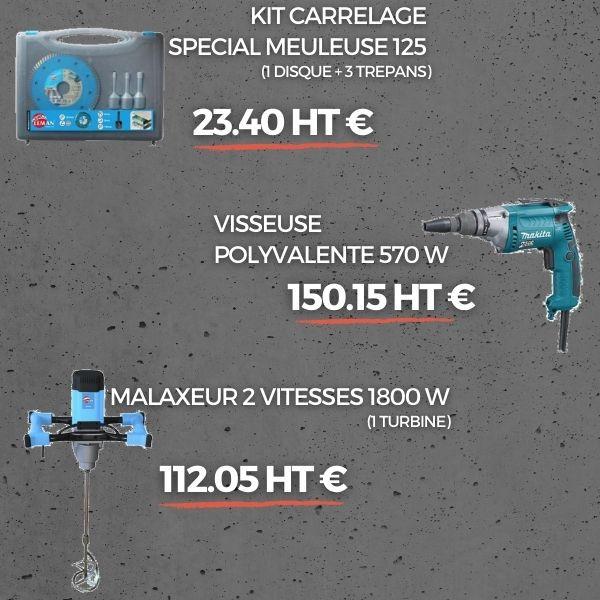 MEULEUSE DIAM 125 - 1200W (2 DISQUES BET