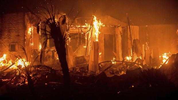 Lilac Fire burns barns