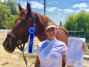 """DHS Imported """"Evita"""" (aka Electra) earns her AA rider her first """"10"""" and 71%++ S"""