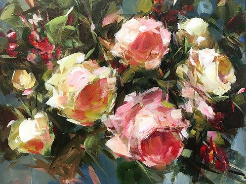 Sunshine Roses, unframed