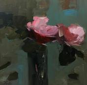 "Together, 16"" x 16"", acrylic on canvas, framed"
