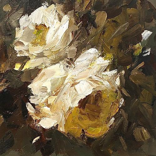 White Roses, unframed