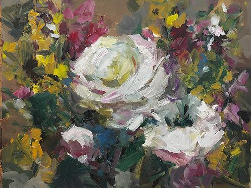 Roses & Wild Flowers, unframed
