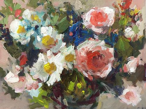 Roses & Daisies, unframed