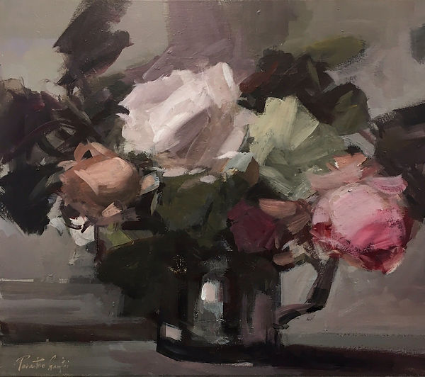A bunch of roses, 20 x 24 inches.jpg