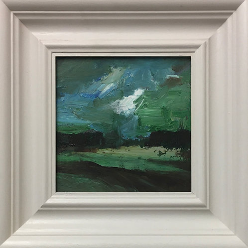 Green Sky, framed