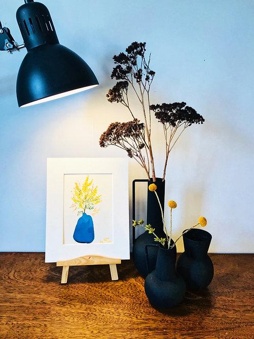 Handmade watercolour Mimosa Print