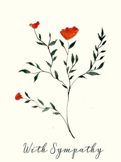 With Sympathy Orange Flower