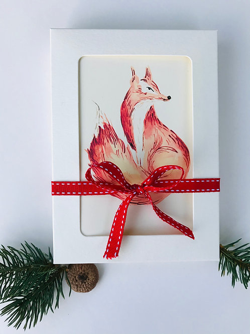 Pack of 8 Fox Christmas Cards