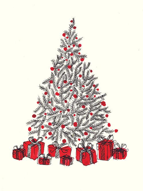 Christmas Tree - Christmas handmade card