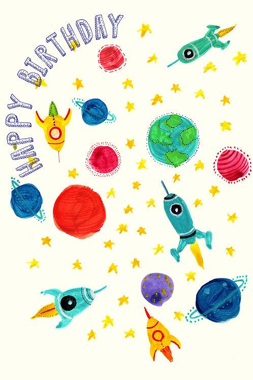 Happy Birthday-Rocket Planets