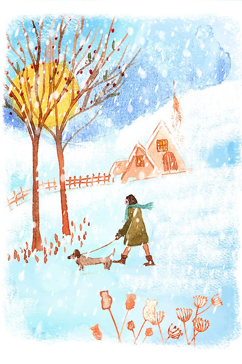 Walkie -Christmas card