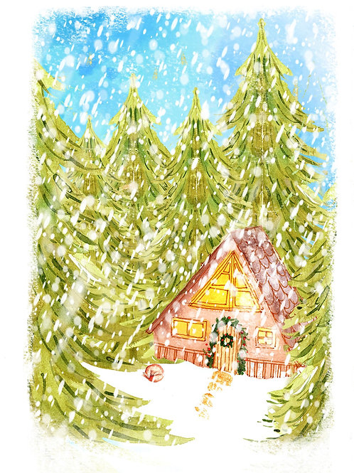 In the woods - Christmas card