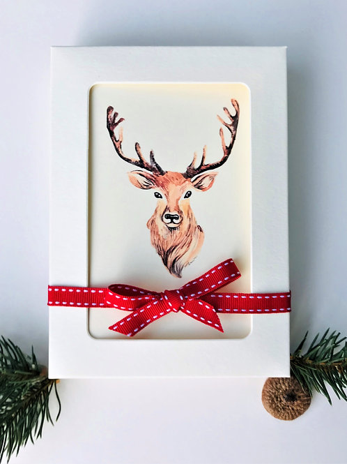 Pack of 8 Stag Christmas cards