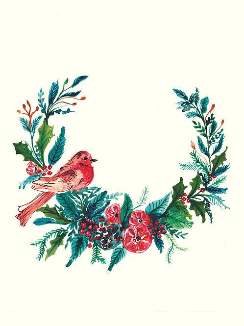 Christmas Wreath-Christmas handmade card