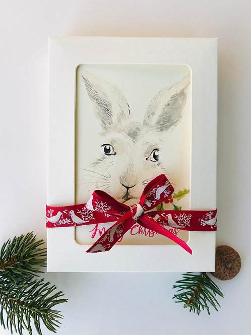 Pack of 8 Rabbit Christmas Cards