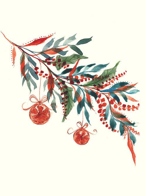 Dried Orange -  Christmas handmade card
