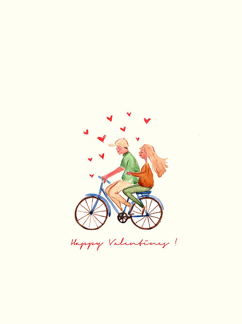 Bike Love -Handmade Valentines Card