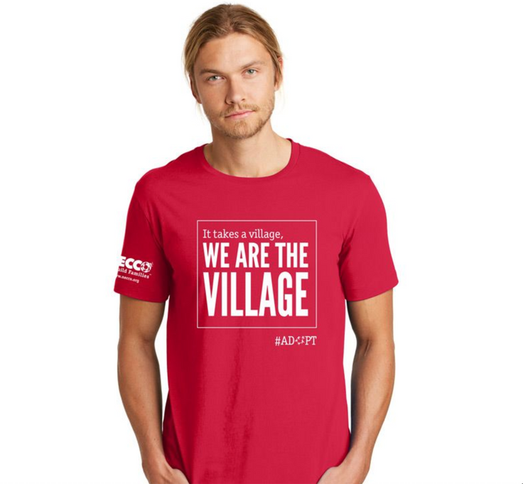We Are The Village T-Shirt Mock-Up Men