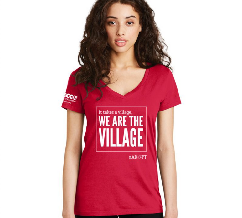 We Are The Village T-Shirt Mock Up Womens