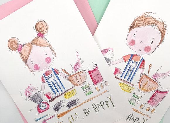 Bakeful Play Greetings Card with Sprinkles of Dreams