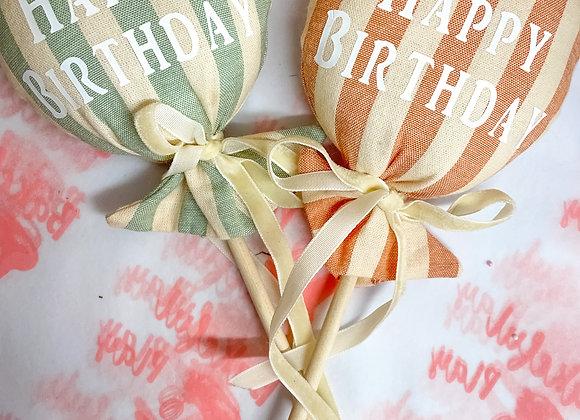 Handmade Balloon Cake Topper