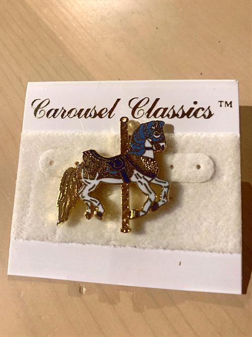 Small Blue Carousel pin