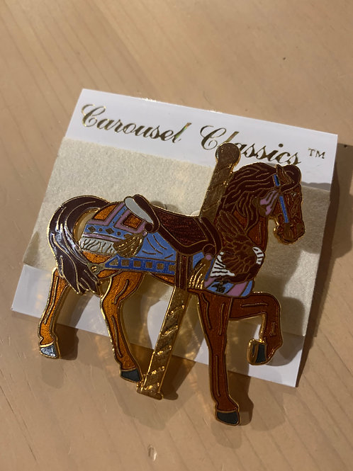 Brown/Blue Carousel Pin