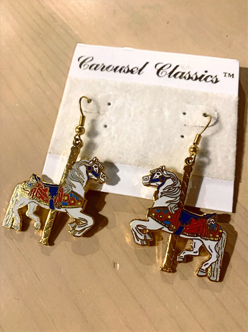 Orange/Blue Carousel Earring