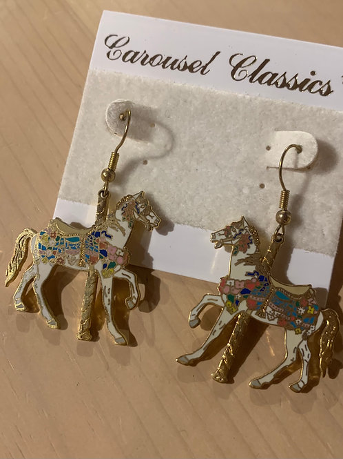 Colorful Carousel Horse Earrings