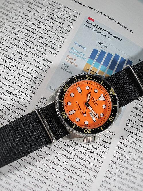 2001 Seiko 7S26-0020 (SKX011J) Automatic Dive Watch, w/7S26 Manual