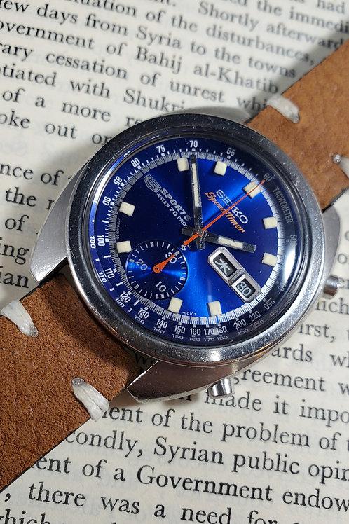 "1969 Seiko 6139-6010 SpeedTimer ""Deep Blue"" Chronograph"