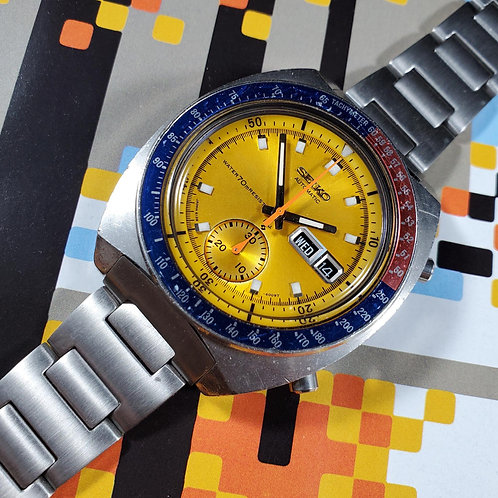 "1971 Seiko 6139-6005 ""True Pogue"" Automatic Chronograph, w/Uncle Seiko Bracelet"