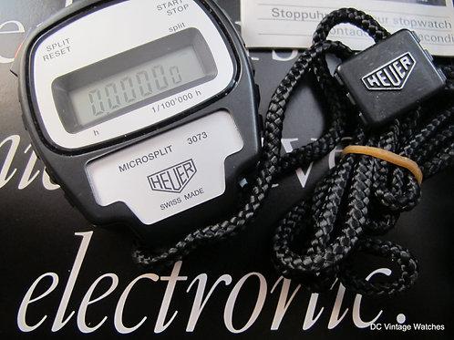 Heuer Ref.3073 1/100k Digital Microsplit Stopwatch