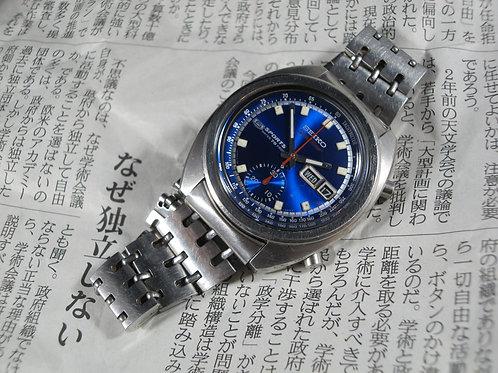 """1969 Seiko 6139A-6010 SpeedTimer """"Deep Blue"""" Chronograph, w/Original Bracelet"""