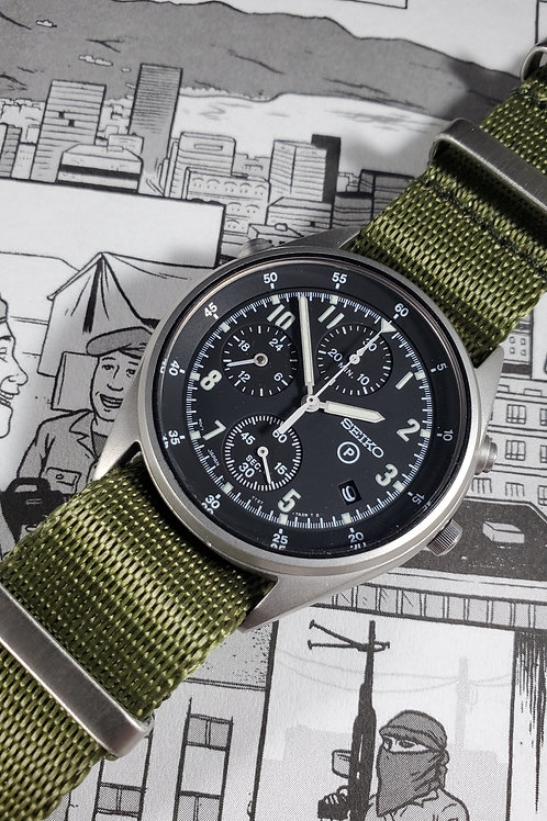 1984 Seiko 7T27-7A20 UK Royal Air Force-Issued Gen 2 Chronograph