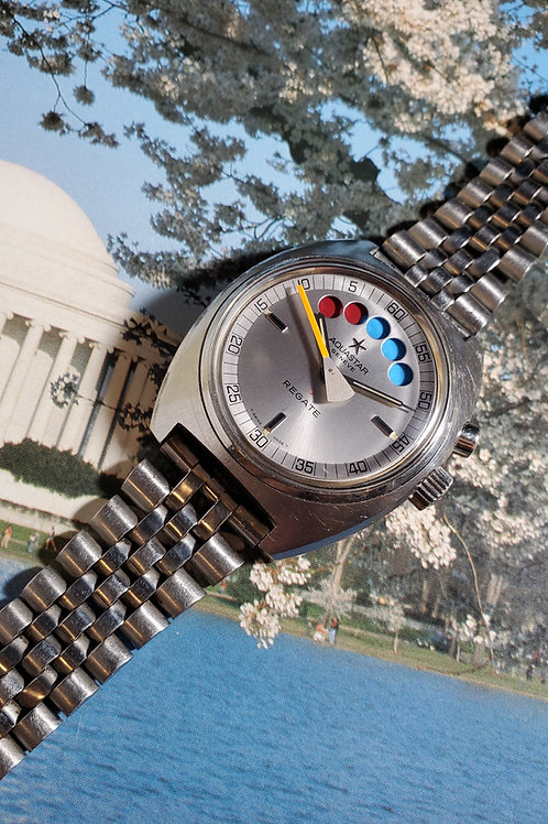 1970's Aquastar Regate Regatta Lemania Automatic