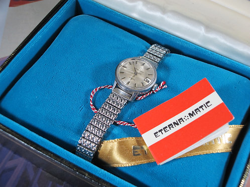1960s Eterna Matic Sahida Woman's Mechanical Watch, w/Original Box and Manual
