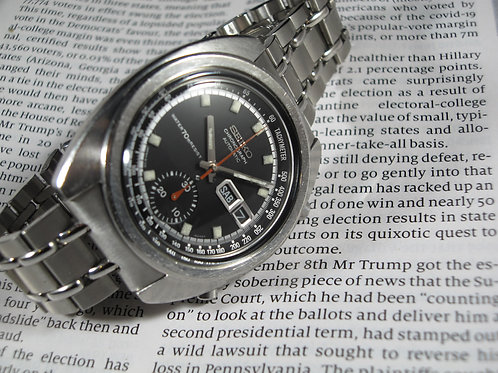 """1970 Seiko 6139A-6011 """"Bruce Lee"""" Transitional Automatic Chronograph"""