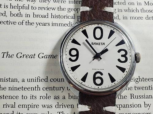 "1980's Raketa ""Big Zero"" Mechanical Watch"