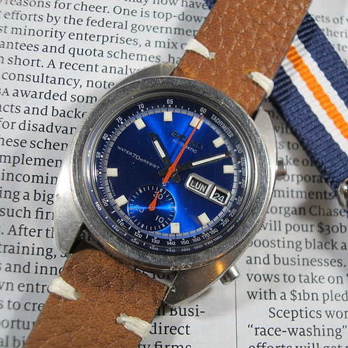 "1972 Seiko 6139-6015 ""Deep Blue"" Automatic Chronograph"