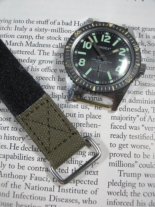 1960's Ondex Mechanical Dive Watch