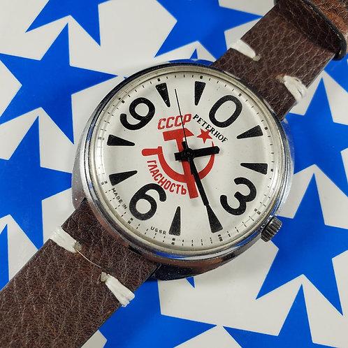 "1980's Peterhof/Raketa ""Big Zero"" Mechanical Watch"