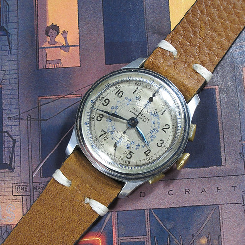 1950s Avalon Watch Company Snail Dial Mechanical Chronograph