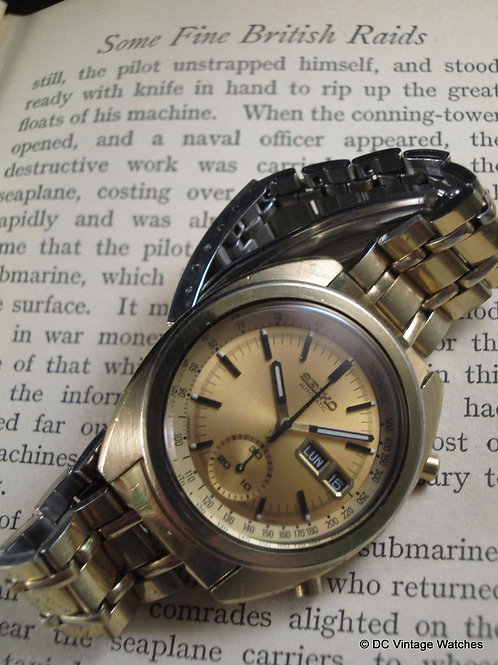 Gold 1974 Seiko 6139-6015 Automatic Chronograph