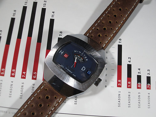 1970s Sicura Jump Hour Mechanical Watch
