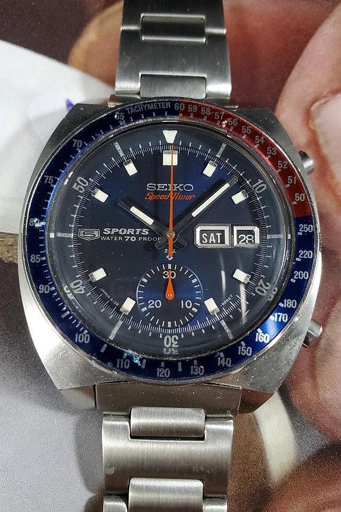 """March 1969 Seiko 6139-6000 SpeedTimer """"Cevert"""" Chrono w/Uncle Seiko Bracelet"""