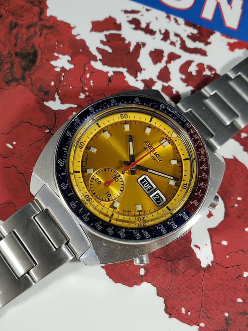 "1971 Seiko 6139-6002 ""Colonel Pogue"" Automatic Chronograph, w/Uncle Seiko H-Link"